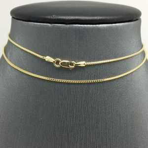 Jewelry - 14K Yellow Gold Franco Chain ~0.80mm 22 inches